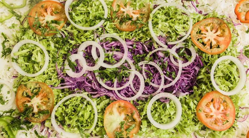 Diversidade de alimentos coloridos