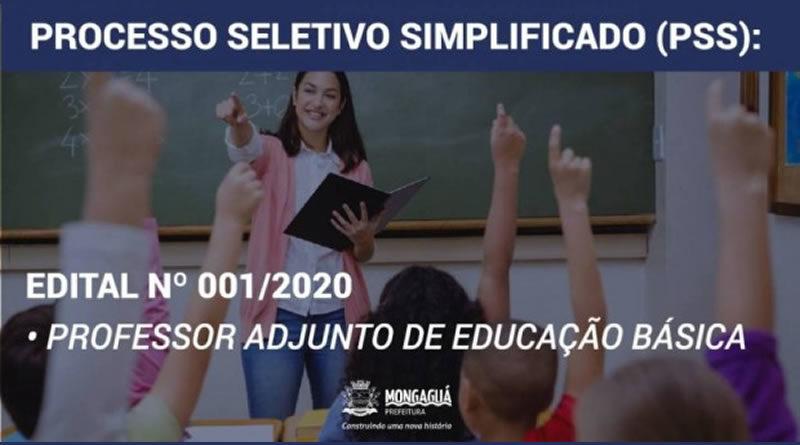 Mongaguá abre processo seletivo simplificado para professor adjunto de educação básica