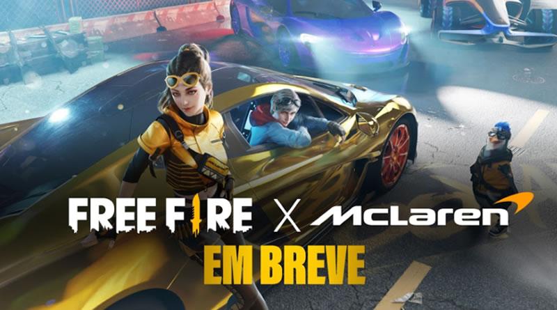 Garena anuncia parceria entre Free Fire e McLaren Racing para conteúdo exclusivo no jogo