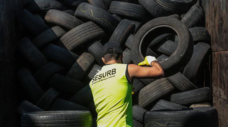 Praia Grande é referência na logística reversa de pneus