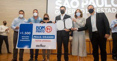 Praia Grande terá primeiro restaurante Bom Prato e retomará obras de conjuntos habitacionais