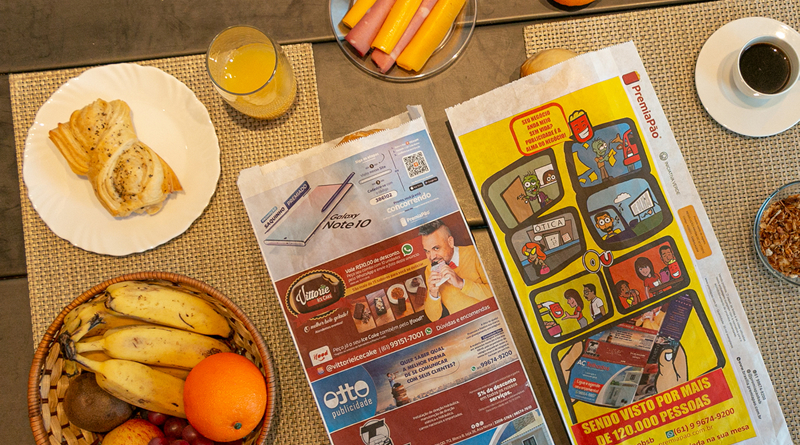 Publicidade em saco de pão chama atenção de grandes anunciantes