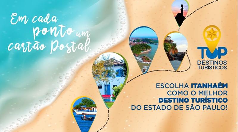 Vote em Itanhaém no Prêmio Top Destinos Turísticos 2021