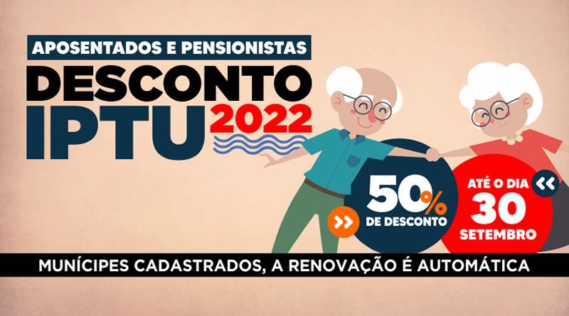 Desconto no IPTU de aposentados e pensionistas que já usufruem do benefício é automático em Itanhaém