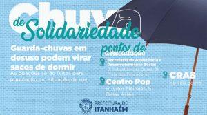 Projeto em Itanhaém transforma guarda-chuvas quebrados em sacos de dormir