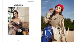 Noelle Nogueira é capa de revista francesa.
