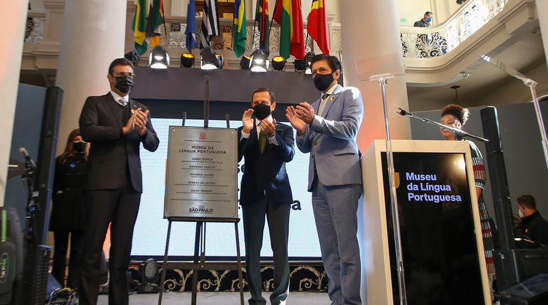 Museu da Língua Portuguesa é reaberto com presença de autoridades globais